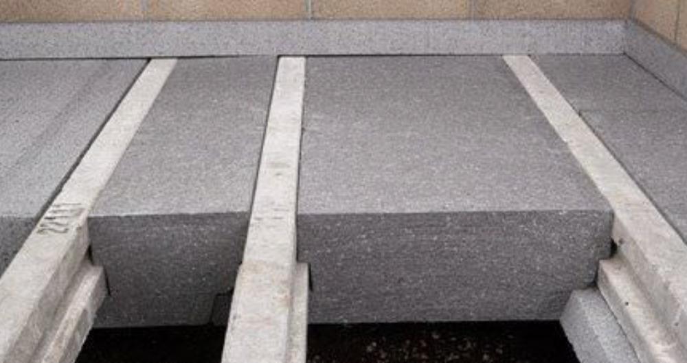 polystyrene concrete wall